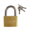 Brass thin padlock 20mm chrome plated shackle. 3 keys.