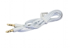 AK292B Kabel płaski jack 3,5mm 1m white