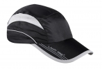 Sport cap with peak, black, lahti