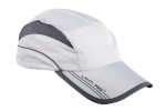 Sport cap with peak, grey, lahti