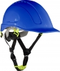 Safety helmet with vent., blue, cat. ii, ce, lahti