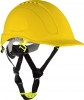 Safety helmet with vent., yellow, cat. ii, ce, lahti