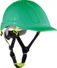 Safety helmet with vent., green, cat. ii, ce, lahti