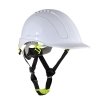 Safety helmet with vent., white, cat. ii, ce, lahti
