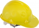 Safety helmet, yellow, cat. ii, ce, lahti