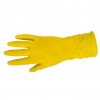 "Gloves latex household anti-slip yellow, card, ""9"", ce,lahti"