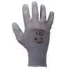 "Gloves pu grey l230209p, card, ""9"", ce, lahti"