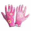 "Gloves pu pink l230308p, card, ""8"", ce, lahti"