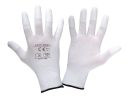 "Gloves pu fingertip white l231111p,card, ""11"", ce, lahti"