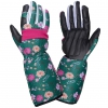"Gloves leather goat green long l272909p, card, ""9"", ce,lahti"