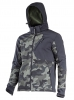 "Softshell jacket,hood,green-black camouflage, ""2xl"",ce,lahti"