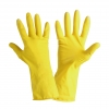 "Gloves latex household yellow, card, ""10"", ce, lahti"