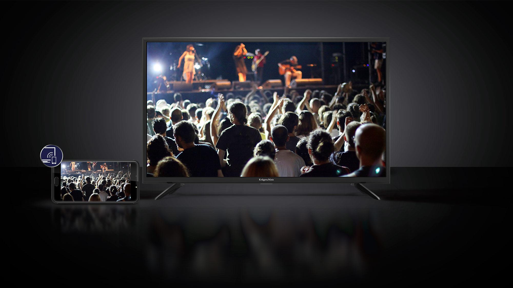 Chcesz pochwalić się filmami i zdjęciami zapisanymi na smartfonie? A może masz ochotę zagrać w ulubioną grę na ekranie większym niż 5 cali? Jest to możliwe dzięki funkcji Wi-Fi display, która pozwala na bezprzewodowe strumieniowanie treści z urządzenia mobilnego wprost na ekran telewizora.