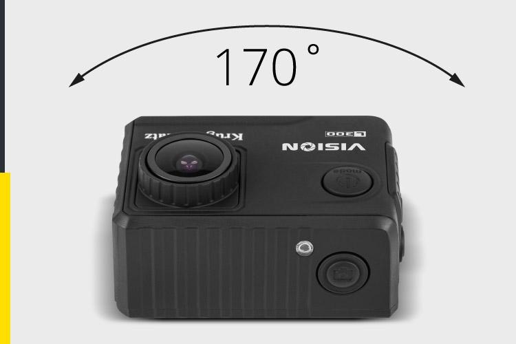 Kamera sportowa z szerokokątnym obiektywem