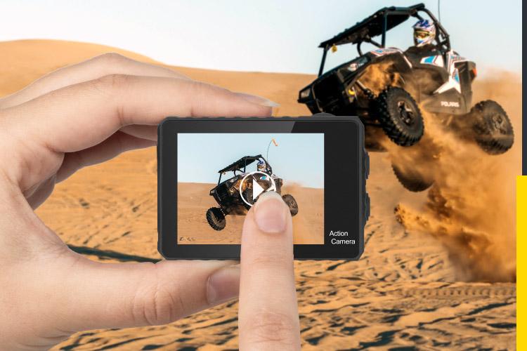 Kamera sportowa z dotykowym ekranem