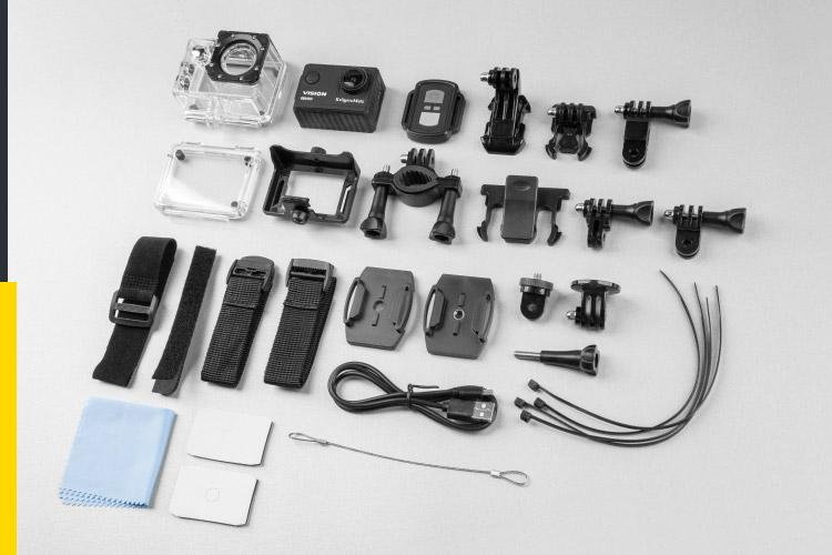 Kamera sportowa z akcesoriami